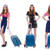 set of photos with travelling airhostess stock photo © elnur