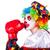 grappig · clown · geïsoleerd · witte · glimlach · gezicht - stockfoto © elnur