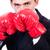 boxeador · jóvenes · competitivo · empresario · aislado · blanco - foto stock © elnur