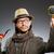 drôle · détective · pipe · chapeau · oeil · visage - photo stock © elnur