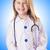 Mädchen · Arzt · Kostüm · lächelnd · medizinischen · einheitliche - stock foto © elnur