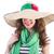 女性 · パナマ · 帽子 · 孤立した · 白 · 少女 - ストックフォト © elnur