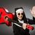divertente · suora · rosso · chitarra · giocare · musica - foto d'archivio © elnur