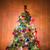 altın · noel · ağacı · beyaz · oda · yeşil · dekore · edilmiş - stok fotoğraf © elnur