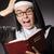 hombre · lectura · Biblia · rezando · iglesia - foto stock © elnur