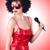 pop · star · czerwona · sukienka · biały · strony · szczęśliwy - zdjęcia stock © elnur