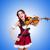 young woman playing violin against gradient stock photo © elnur