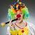 radosny · kolorowy · clown · uśmiechnięty · kobieta · kwiat - zdjęcia stock © elnur