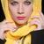 ernstig · vrouw · kleurrijk · hoofddoek · mode - stockfoto © elnur