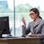 biznesmen · biuro · długo · papieru · pracy · noc - zdjęcia stock © elnur
