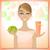 beleza · creme · ilustração · bela · mulher · maçã - foto stock © Elsyann