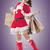 asian christmas girl hold shopping bags stock photo © elwynn