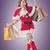 christmas · meisje · verwonderd · mooie · hoed - stockfoto © elwynn