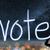 votar · eleição · democracia · silhueta · asiático · mulher · de · negócios - foto stock © elwynn