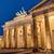kilátás · Berlin · hajnal · épület · kereszt · fém - stock fotó © elxeneize