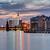 éjszaka · gyönyörű · Berlin · épület · naplemente · utazás - stock fotó © elxeneize