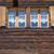 kettő · ablakok · zsalu · ezüst · üzlet · textúra - stock fotó © elxeneize