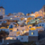 falu · éjszaka · Santorini · városkép · Görögország · égbolt - stock fotó © elxeneize