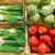 groene · verkoop · markt · voedsel · vruchten · achtergrond - stockfoto © elxeneize