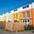 colorful serial housing in berlin stock photo © elxeneize