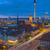 központ · Berlin · éjszaka · torony · felhők · város - stock fotó © elxeneize