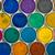 oude · locomotief · heldere · kleurrijk · speelgoed - stockfoto © elxeneize