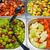 színes · büfé · saláta · étterem · étel · egészség - stock fotó © elxeneize