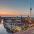 sunset over downtown berlin stock photo © elxeneize