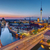 the berlin skyline at the blue hour stock photo © elxeneize