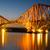 рельс · моста · закат · Шотландии · дороги · здании - Сток-фото © elxeneize