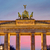 The Brandenburg Gate after sunset stock photo © elxeneize