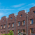 serial houses with red bricks in berlin stock photo © elxeneize