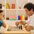 jóvenes · familia · jugando · ajedrez · año · edad - foto stock © emese73
