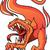 cartoon · brand · draak · glimlach · kunst · dieren - stockfoto © ensiferrum