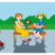 kinderen · park · kinderen · spelen · auto · gras · jongen - stockfoto © ensiferrum