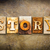 story concept letterpress leather theme stock photo © enterlinedesign