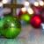 rouge · Noël · neige · bois · or · ornements - photo stock © enterlinedesign
