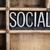 social concept metal letterpress word in drawer stock photo © enterlinedesign