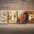 stop concept letterpress theme stock photo © enterlinedesign