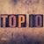 top · 10 · classifiche · elenco · pop - foto d'archivio © enterlinedesign