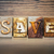 save concept letterpress theme stock photo © enterlinedesign