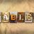 tableta · metal · tipo · palabra · escrito - foto stock © enterlinedesign