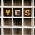 evet · kelime · eski · baskı · bloklar - stok fotoğraf © enterlinedesign