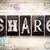 share concept metal letterpress type stock photo © enterlinedesign