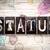 status concept metal letterpress type stock photo © enterlinedesign