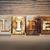 vie · mot · écrit · rouillée · métal - photo stock © enterlinedesign