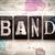 band concept metal letterpress type stock photo © enterlinedesign