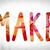 make concept watercolor word art stock photo © enterlinedesign