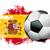 サッカーボール · スペイン国旗 · 孤立した · 白 · デザイン · ボール - ストックフォト © enterlinedesign