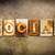 social concept letterpress leather theme stock photo © enterlinedesign